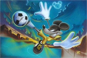 "Noah Hand Hand Signed and Numbered Canvas Giclee:""Kickin' It"""