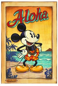 "Trevor Carlton Signed and Numbered Limited Edition Hand-Textured Giclée on Canvas:""Waves of Aloha"""
