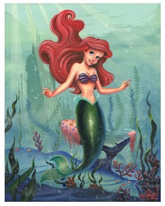 "James C. Mulligan Signed and Numbered Limited Edition Hand-Embellished Giclée on Canvas:""Ariel"""