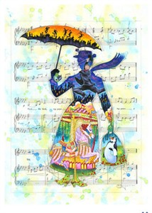 "Tim Rogerson Signed and Numbered Limited Edition Hand-Embellished Giclée on Canvas:""A Mary Tune"""
