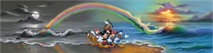 "Jim Warren Hand-Signed and Numbered Limited Edition Hand-Embellished Giclée on Canvas:""Walt's Wonderful World of Color"""