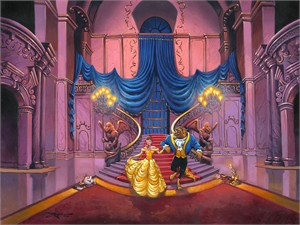 "Rodel Gonzalez Signed and Numbered Limited Edition Giclée on Canvas:""Tale As Old As Time"""