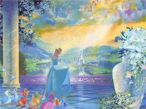 """John Rowe Signed and Numbered Limited Edition Hand-Embellished Giclée on Canvas:""""The Life She Dreams Of"""""""