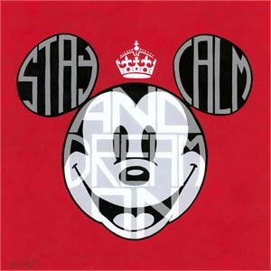 "Tennessee Loveless Signed and Numbered Limited Edition Giclée on Canvas:""Mickey Mouse - Stay Calm and Dream On"""