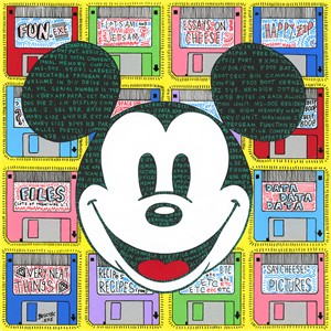 "Tennessee Loveless Signed and Numbered Limited Edition Giclée on Canvas:""Mickey Mouse - Data World Exe"""