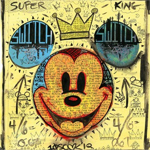 "Tennessee Loveless Signed and Numbered Limited Edition Giclée on Canvas:""Mickey Mouse - Wake Up and Smell the Sound of Coffee"""
