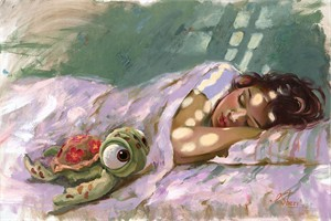 """Irene Sheri Signed and Numbered Limited Edition Hand-Embellished on Hand-Textured Canvas:""""Dreaming of the Reef"""""""