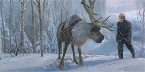 "Jim Salvati Signed and Numbered Limited Edition Hand-Textured Giclée on Canvas:""Epic Journey - Frozen"""