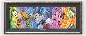 """Disney Framed Limited Edition Canvas Giclee:""""Colorful Personalities"""" by Stephen Fishwick"""