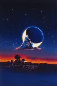 """Rodel Gonzalez Signed and Numbered Limited Edition Hand-Embellished Giclée on Canvas:""""Magical Journey"""""""