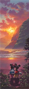 """Rodel Gonzalez Signed and Numbered Limited Edition Hand-Embellished Giclée on Canvas:""""Sunset Romance"""""""