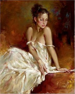 "Andrew Atroshenko Limited Edition Embelleshed Giclee on Canvas :""Valeria"""
