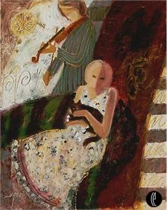 "Sabzi Limited Edition Giclee on Canvas :""Midnight Mood """