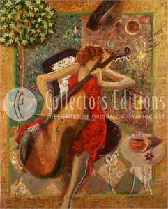 "Sabzi Limited Edition Giclee / Serigraph on Canvas :""Sonata """