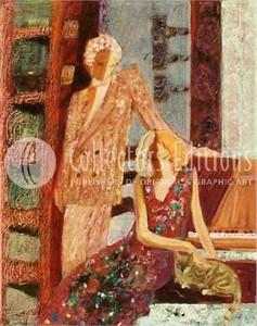 "Sabzi Limited Edition Embellished Giclee on Canvas :""Apology """