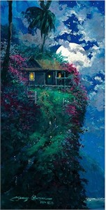 "Rob Kaz Signed and Numbered Limited Edition Hand-Embellished Giclée on Canvas:""The Splendor of His New Home"""
