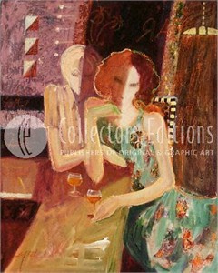 "Sabzi Limited Edition Embellished Giclee on Canvas :""Between Friends """