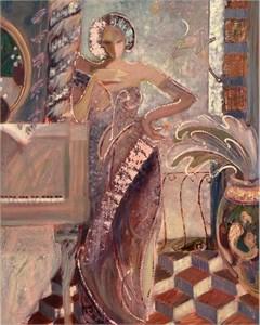 "Sabzi Limited Edition Embellished Giclee on Canvas  :""Midnight Romance """