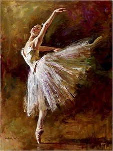 "Andrew Atroshenko Limited Edition Embelleshed Giclee on Canvas :""Ballerina"""