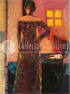 """Sabzi Limited Edition Giclee on Paper :""""Interior """""""