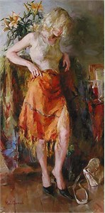 "Garmash Limited Edition Embellished Giclee on Canvas :""Ready for Romance"""