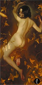 "Valueva Limited Edition Giclee on Canvas :""Autumn Nymph"""