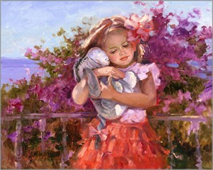 "Irene Sheri Signed and Numbered Limited Edition Hand-Textured Giclée on Canvas:""Eeyore's Sunny Day"""