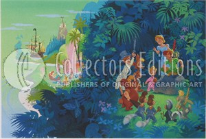 "John Hench Limited Edition Giclee on Paper :""Neverland """