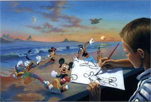 "Jim Warren Handsigned & Numbered Limited Edition Giclee on Canvas:""Dream Maker"""