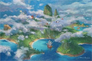 "James Coleman Handsigned and Numbered Limited Edition Canvas:""First Look at Neverland """