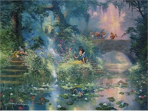 "James Coleman Handsigned & Numbered Limited Edition Canvas:""Picking Flowers"""