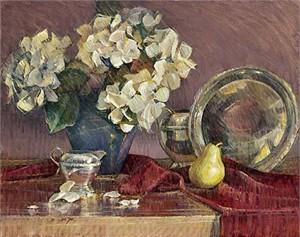 "Jan Saia Limited Edition Giclee on Canvas :"" Hydrangea Reflections"""