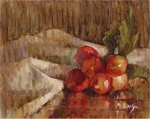 "Jan Saia Limited Edition Giclee on Canvas :"" Radishes"""