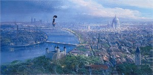 "Peter Ellenshaw Limited Edition Giclee on Canvas :""Practically Perfect"""