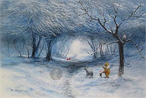 "Peter Ellenshaw Limited Edition Giclee on Canvas :"" Winter Walk"""