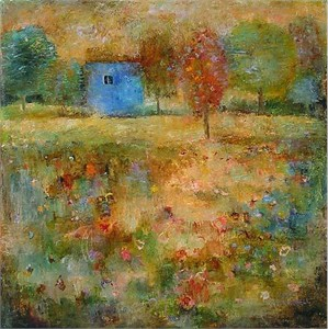 """Lela Handsigned and Numbered Limited Edition Giclee on Canvas:""""Poppy Field """""""