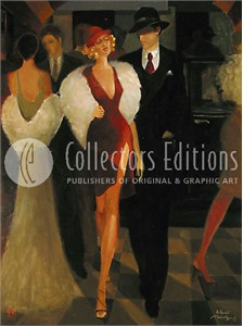 "Atvandil Limited Edition Embelleshed Giclee on Canvas :""Out on The Town """