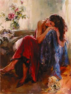 "Garmash Handsigned and Numbered Limited Edition Giclee on Canvas:""Dreaming of Love"""