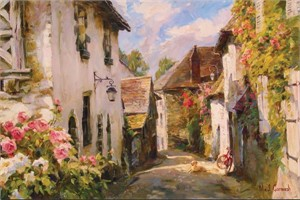 "Garmash Handsigned & Numbered Limited Edition Embelleshed Giclee on Canvas:""Morning In Provence"""