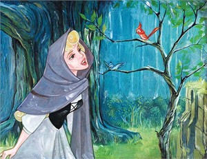 """Jim Salvati Handsigned and Numbered Limited Edition Embellished Canvas Giclee:""""Singing with the Birds"""""""