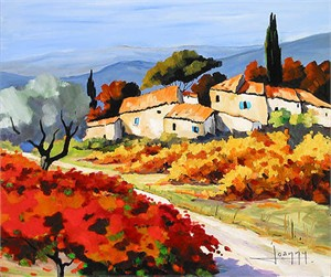 """Joanny Handsigned & Numbered Limited Edition Giclee on Canvas:""""Village of the Past """""""