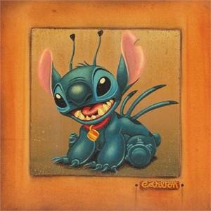 "Trevor Carlton  Handsigned & Numbered Limited Edition Embellished Canvas Giclee: ""Stitch"""