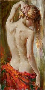 "Andrew (Andrew Atroshenko) Handsigned and Numbered Giclee on Pallet KnifeTextured Canvas Giclee:""Awakening"""