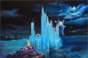 "Ellenshaw Handsigned & Numbered Limited Edition Giclee on Canvas:""Blue Castle"""