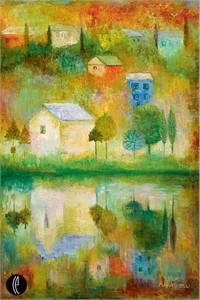 "Lela Limited Edition Embellished Giclee on Canvas:""Childhood"""