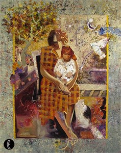 """Sabzi Handsigned and Numbered Limited Edition Giclee on Canvas :""""Memories"""""""