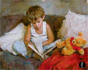 "Garmash Handsigned & Numbered Limited Edition Embelleshed Giclee on Canvas:""Wonderful World"""