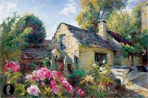 """Garmash Handsigned & Numbered Limited Edition Embelleshed Giclee on Canvas:""""La Maison De Provence"""""""