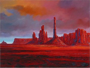 "Harrison Ellenshaw Handsigned & Numbered Limited Edition Giclee on Canvas:""Monument Valley"""