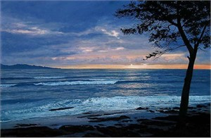 "Harrison Ellenshaw Handsigned & Numbered Limited Edition Giclee on Canvas:""Oahu Sunrise"""